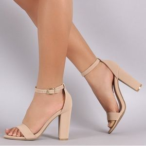 Bamboo Single Band Chunky Heel Rampage-04S